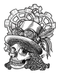 T-Shirt Design: Skull Punk by LunaTheFox