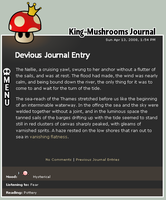 King Mushroom's Journal Entry by miksago