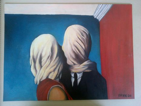 The Lovers - Rene Magritte by must-LOVE-dark-ART