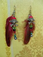 Pirate`s earrings with feathers by Redilion