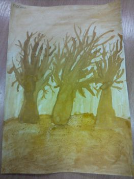 Drawings from school|3|Autumnal Trees by Vex2001
