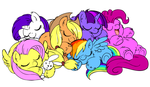My Little (Fluffy) Ponies by marcusmaximus