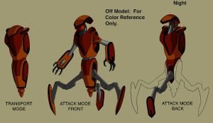Ben 10 Attack robot design by Devilpig