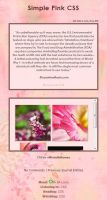 Free for Use Simple Pink CSS by MichelleRamey