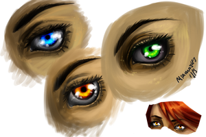 Eye Practice by MiamoryHJ