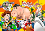 WoodyTeamVS Dr.porkchop! by Green-Kco