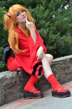 Asuka Langley Yukata Version Cosplay - Evangelion by SailorMappy
