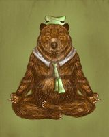 YOGA BEAR by fathi-dhia