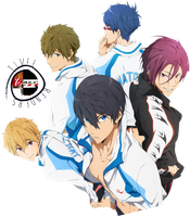 Free! Iwatobi Swim Club Render by tivee