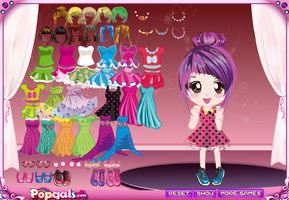 Cute Doll Girl Dress up Game by willbeyou