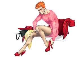 Wally West a Speedster in high heels by croaky