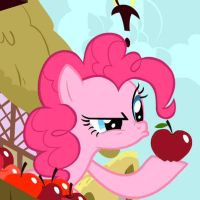 Pinkie Pie Apple Chewing by mykklaw