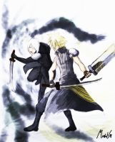 Cloud and kadaj FFVII AC by Marshal91
