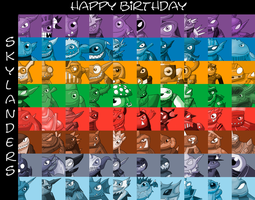 skylanders 2th birthday poster by rizegreymon22
