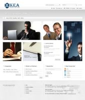 KEA Group website design (consulting web page) by ohmto