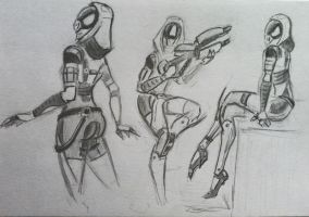 sketches Tali (23) by spaceMAXmarine