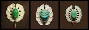 three pendants with face by morpho2012