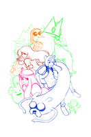 Adventure Time WIP by tabby-like-a-cat
