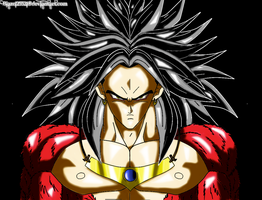 Broly SSJ4 H+S Colored by JamalC157