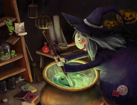 a clumsy witch by 4leafcloverVN
