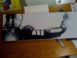 Iron Man on Canvas by waitedesigns