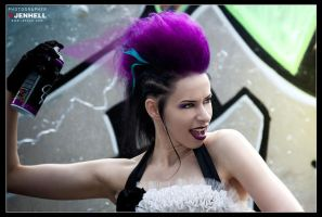 Punky Grafitti Bride 1 by JenHell66