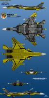 Su-53S Frigate 6-View Yellow 13 by haryopanji