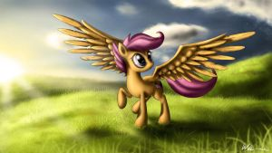 'Don't be afraid ... just spread your wings' by Neko-me