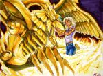 Marik Ishtar and THE WINGED DRAGON OF RA by dolls-of-paradox