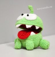 Om Nom from Cut The Rope by artdolphin