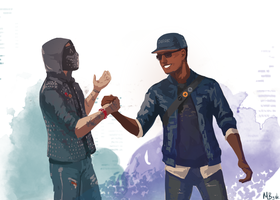 Marcus Holloway x Wrench | Watch dogs 2 by MByak