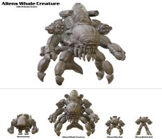 Mechawhales Alien Whale Creature Comparison by hauke3000