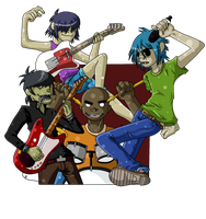 Gorillaz Group by FuturisticMeltdown