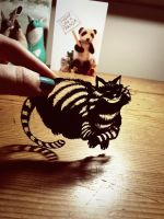 Cheshire Cat - Original Papercut by PaperPandaCuts