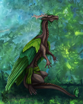 Greenseer and Wind Sprite by TheWingedShadow