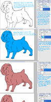 Dog Shading Tutorial Part 1 by hansoloqt