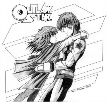 Outlaw Star: Gene and Melfina by RedShoulder