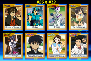 Anime Cards #25 a #32 by DENDEROTTO