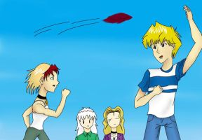 Frisbee Fun by TheAstrica