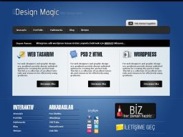 Design Magic Free PSD Template by Ubiwebseo