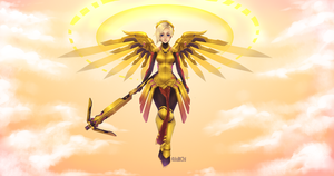 Commission: Mercy - Overwatch by Juliichi