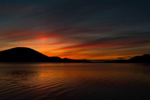 A night at lake Teslin by Argysh