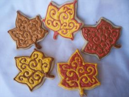Assorted Leaf Cookies by eckabeck