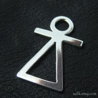 Silver Phoenician Tanit goddess pendant by Sulislaw