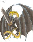 Gift: Cloud Strife Dragon by Frizz-Storyteller