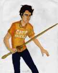 Percy Jackson by burdgebug colored by cheesebucket100