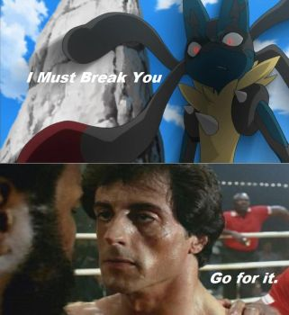 Lucario vs Rocky by FlyingLion76