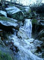 Mossy Rocks and Water by Nacht-Stein