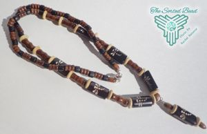 Beaded Necklace, Dragonflies Bone and Wood by TheSortedBead