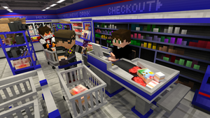 [Minecraf] God is skydoesminecraft in supermarket by natom96